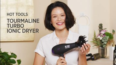A Wavy Blow-Dry with a Pro Artist Tourmaline + Ionic Lightweight Turbo Dryer