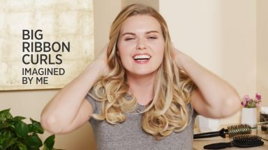 """Big Ribbon Curls with a Pro Signature 1-1/4"""" Curling Wand"""