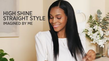 """High Shine Straight Style with a Pro Artist Black Gold™ 1"""" Micro-Shine Flat Iron"""