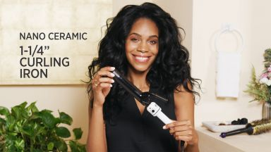 """Loose Curls with a Nano Ceramic 1-1/4"""" Curling Iron"""