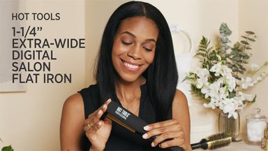 """Smooth, Straight Hair with High Shine with a Pro Artist 1-1/4"""" Wide Plate Salon Flat Iron"""