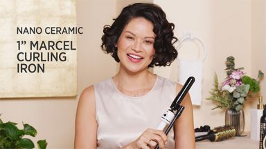 """Salon Smooth Curls with a Nano Ceramic 1"""" Marcel Curling Iron"""