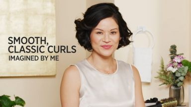 """Smooth, Classic Curls with a Pro Signature Black Ti 1"""" Curling Iron"""