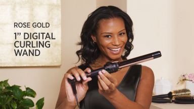 """Smooth Loose Curls with a Rose Gold 1"""" Curling Wand"""