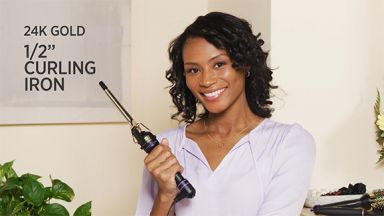 """Spiral Curls with a 24k Gold 1/2"""" Curling Iron"""