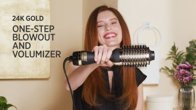 The Award-Winning Blowout with a 24K Gold One-Step Volumizer