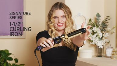 """Tousled Waves with a Pro Signature 1-1/2"""" Curling Iron"""