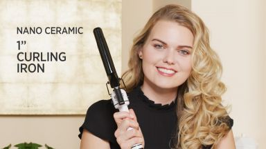 """Tousled Curls with a Nano Ceramic 1"""" Curling Iron"""