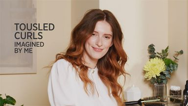 """Tousled Curls with a Pro Signature 3/4 to 1-1/4"""" Tapered Curling Iron"""