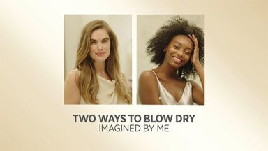 Two Way to BlowDry  with Pro Artist White Gold Digital Salon Dryer