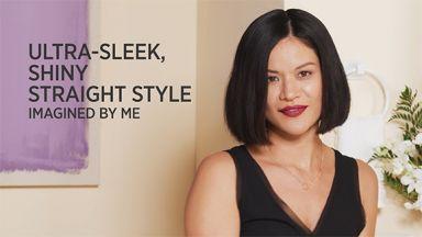 "Ultra-Sleek, Shiny Straight Style with a Pro Signature 1"" Digital Flat Iron"