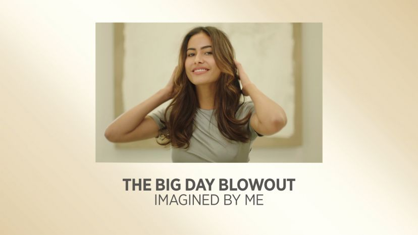 The Big Day Blowout with Pro Artist White Gold One-Step Blowout and Volumizer