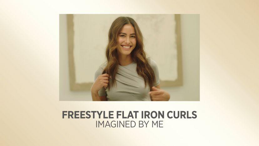 "Free Style Flat Iron Curls with Pro Artist White Gold 1"" Digital Salon Straightener"