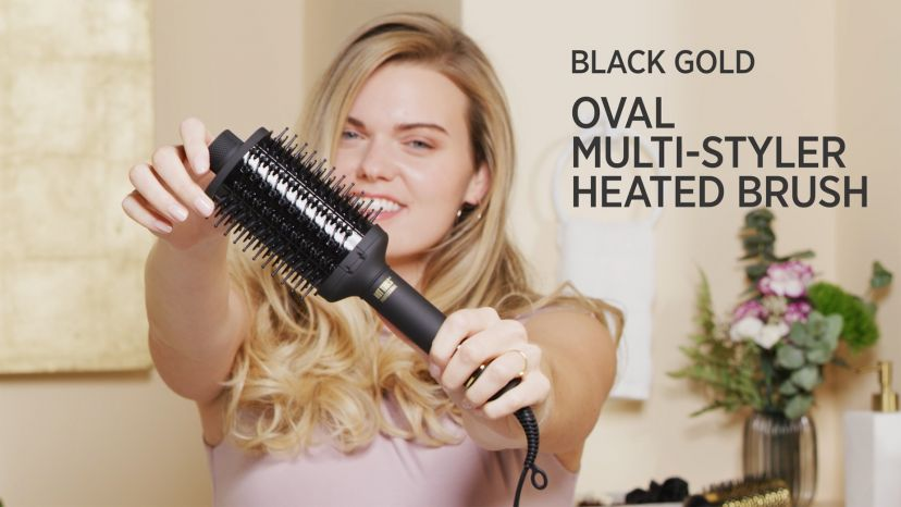 Loose Curls with a Pro Artist Black Gold™ Multi-Styler Heated Hair Brush