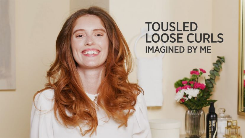 """Tousled Loose Curls with a 24k Gold 1-1/2"""" Curling Iron"""